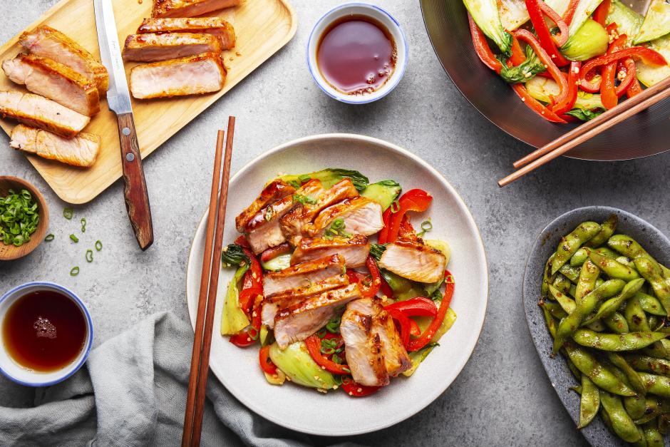 Spicy Gochujang Pork Chops