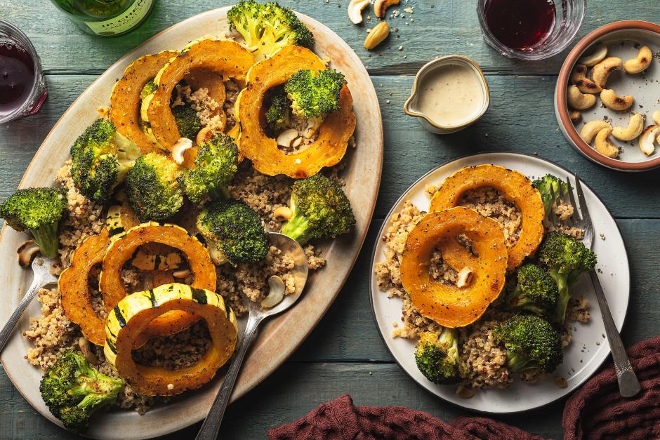 Sweet Roasted Delicata Squash & Broccoli