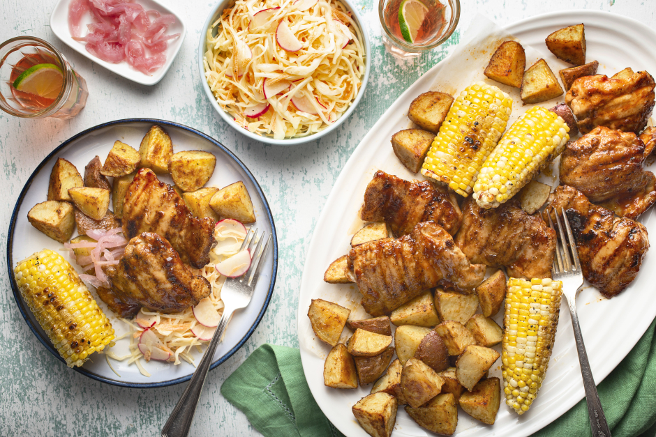 Southern-Style BBQ Chicken Platter
