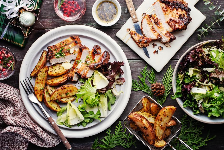 Italian-Style Pan-Seared Pork Chops