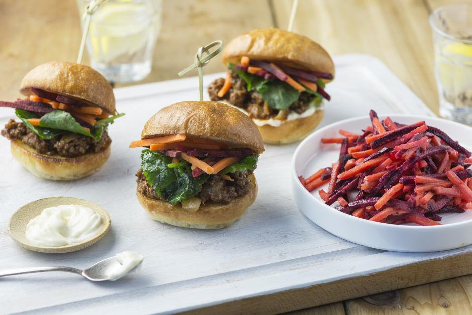 Bourbon-BBQ Beef Sliders
