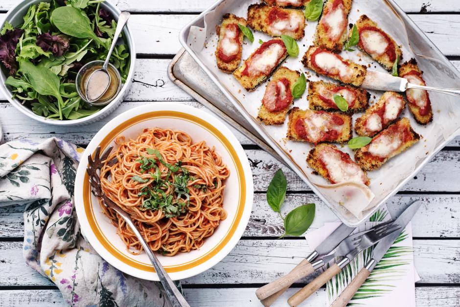 Zucchini Parmigiana with Fresh Mozzarella