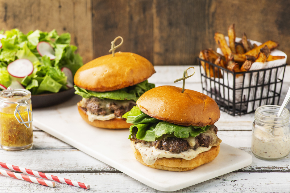 Beef Smash Burgers on Brioche Buns