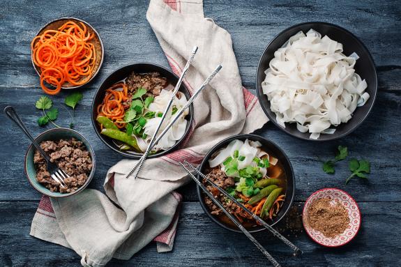 Ground Pork-Coconut Curry Soup