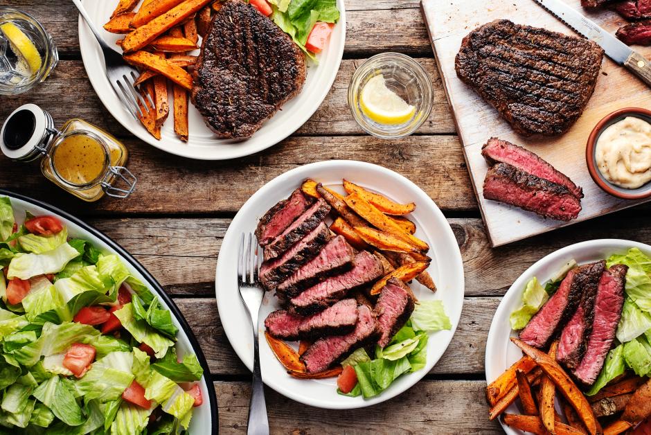 Steak & Sweet Potato 'Frites'