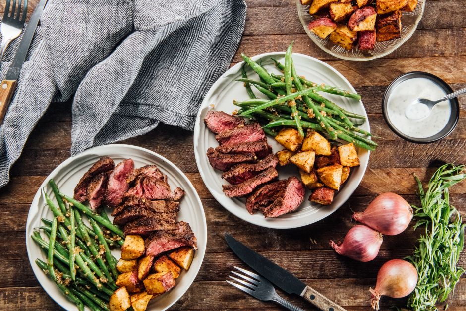 Seared Steaks with Quick Béarnaise Sauce
