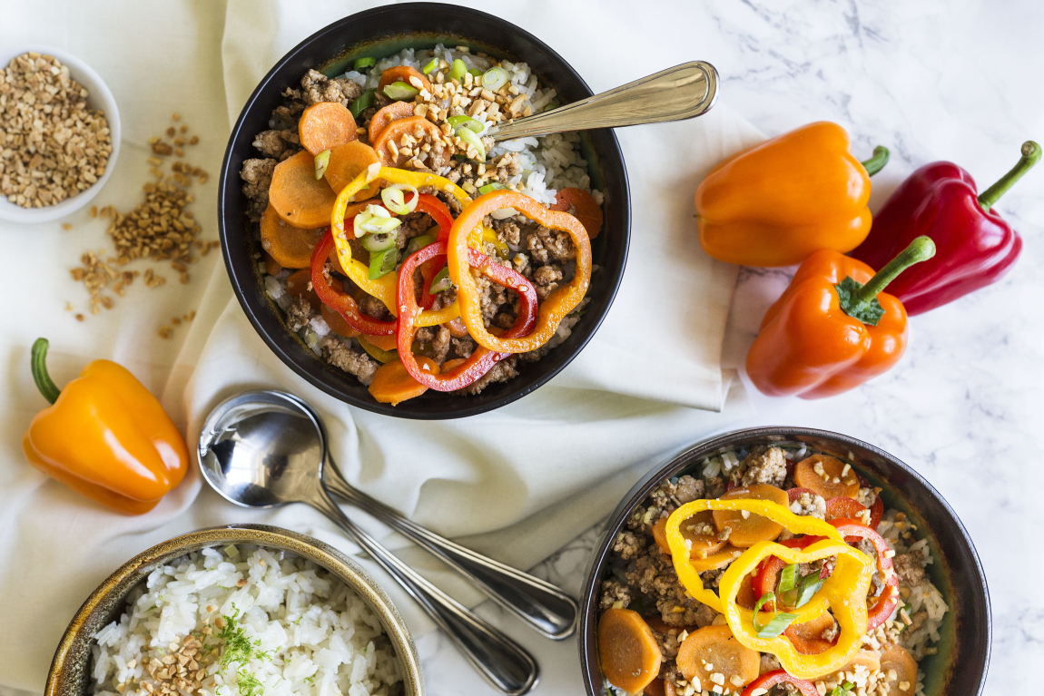 Bol de porc & légumes à la thaïlandaise
