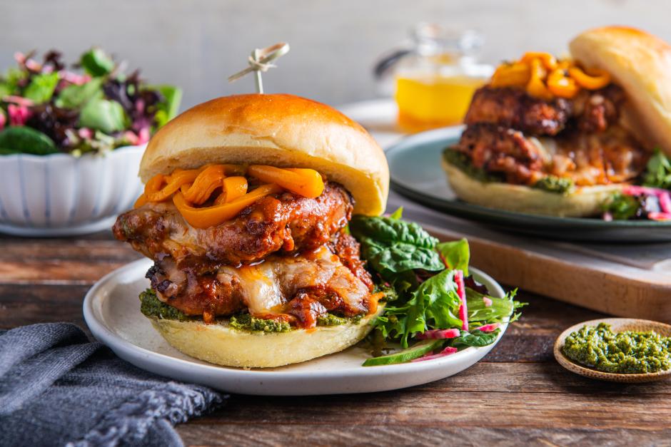 Chicken 'Parmigiana' Burgers