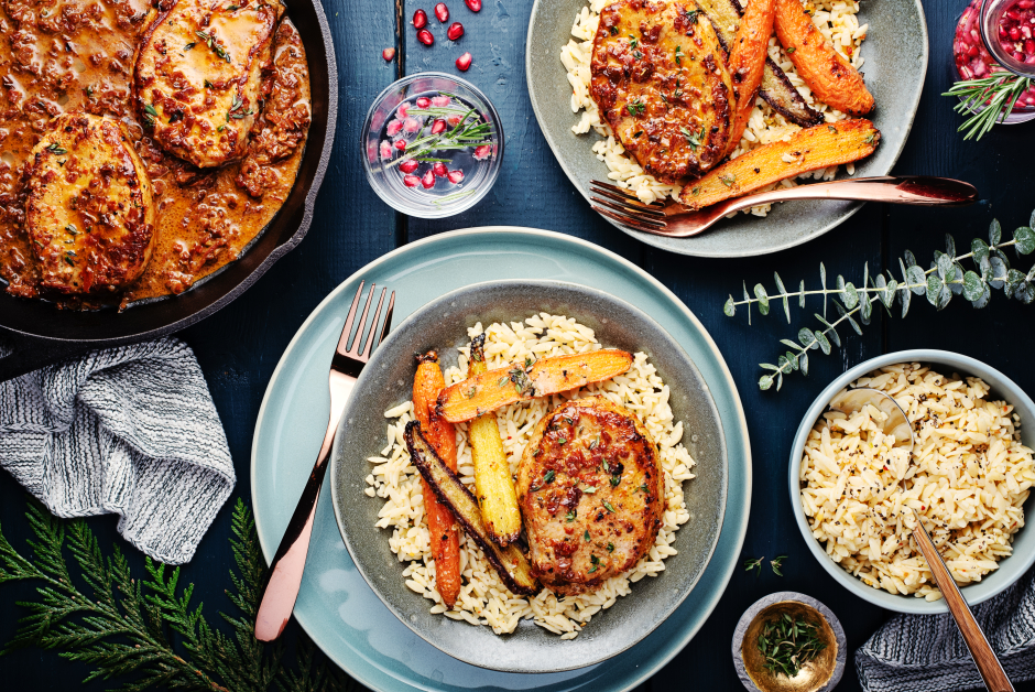 Creamy Skillet Pork Chops with Sun-Dried Tomatoes