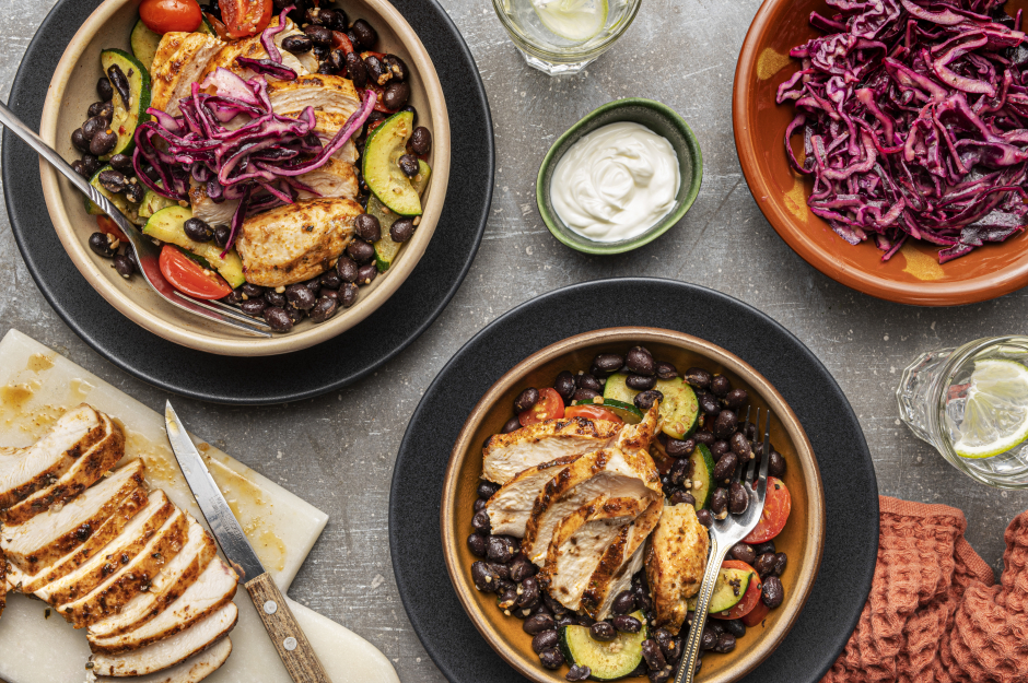 Mexican-Style Chicken Bowls