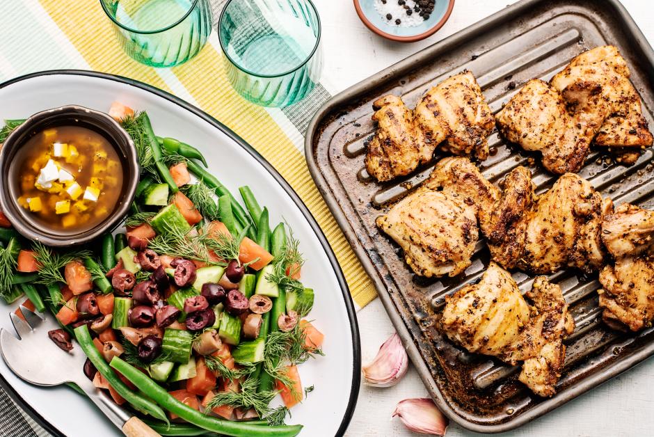 Souvlaki-Spiced Chicken Thighs