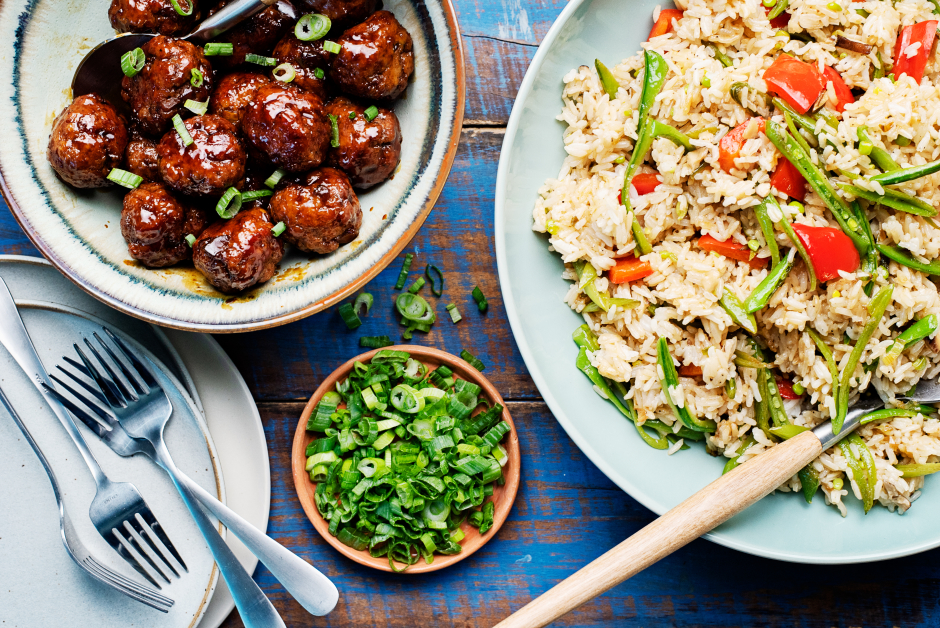 Sweet Soy-Ginger Pork Meatballs