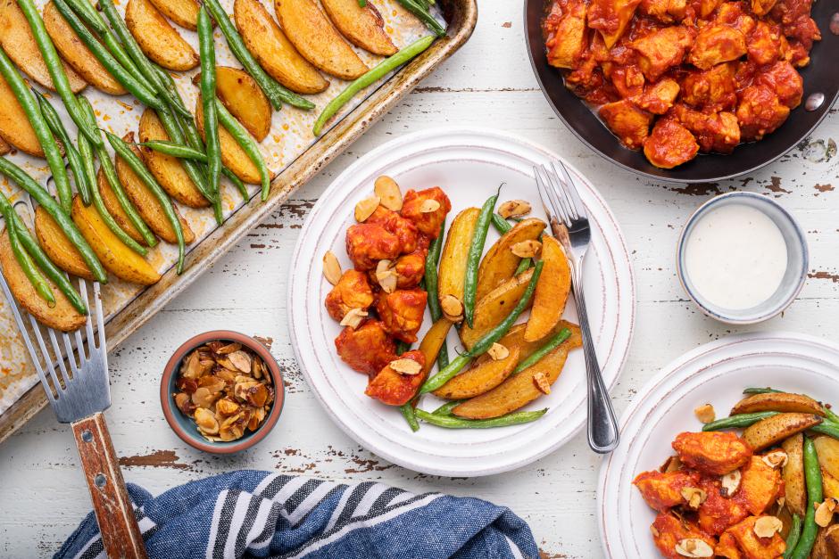 Spanish-Style Chicken & Roasted Potatoes