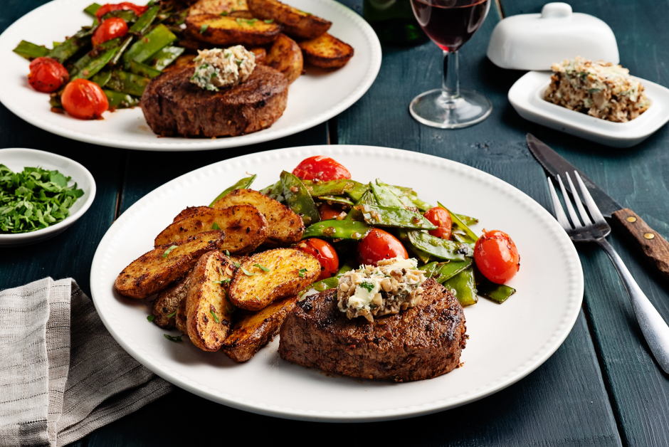 Seared Filets Mignons with Porcini Butter