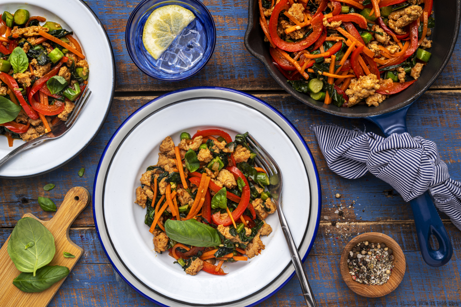Thai-Style Ground Turkey & Basil Stir-Fry