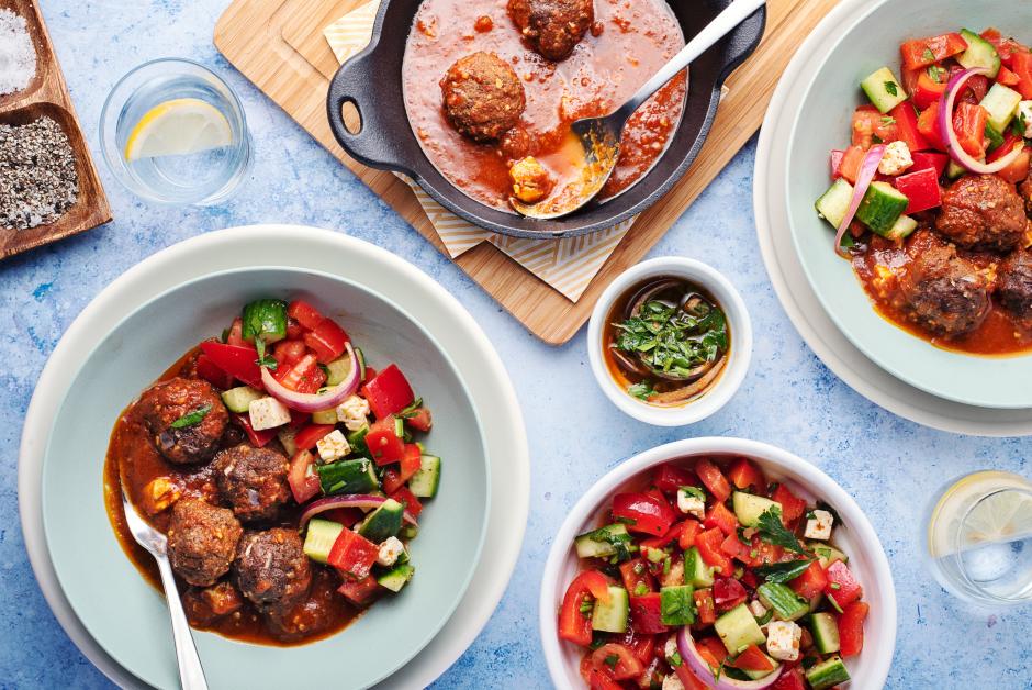 Tomato-Baked Beef Meatballs