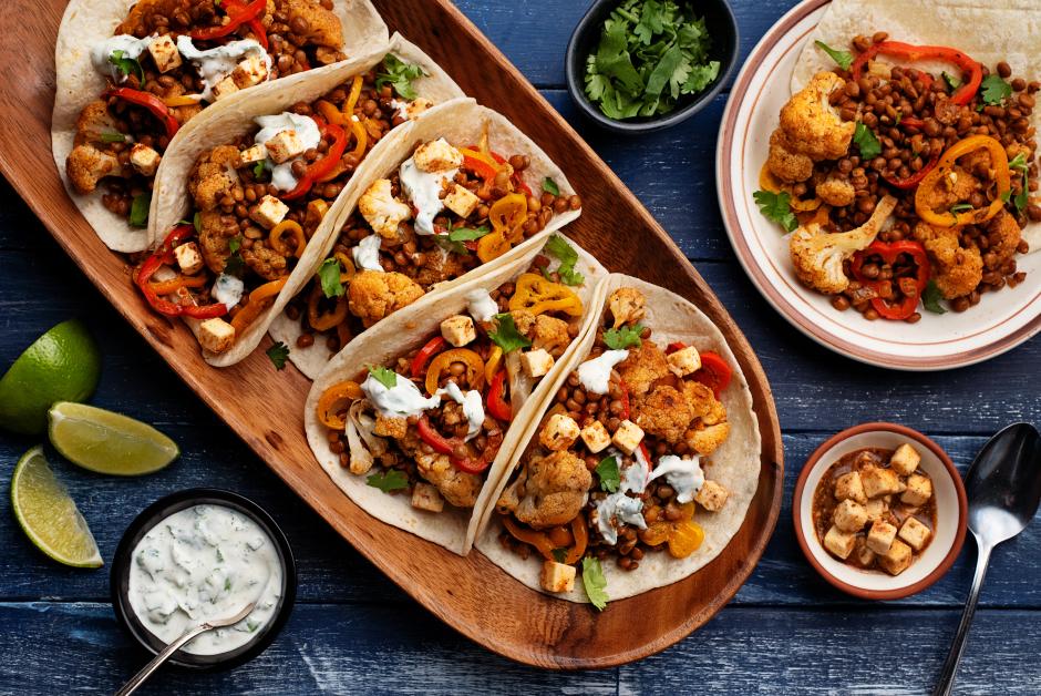 Lentil & Cauliflower Tacos