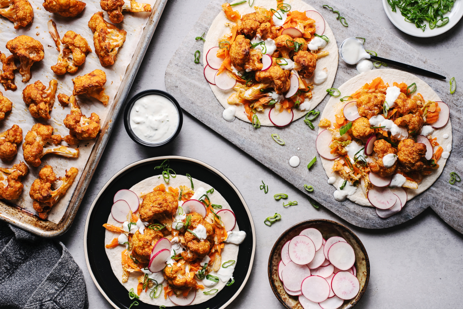 Korean-Style Cauliflower Tacos