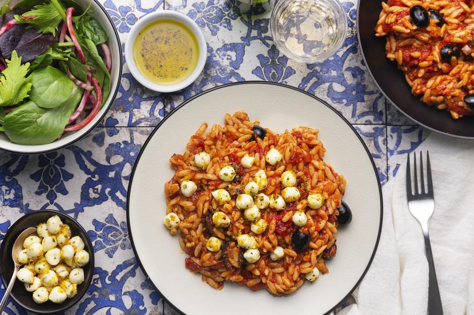 Sicilian-Style Tomato, Lemon & Garlic Orzo