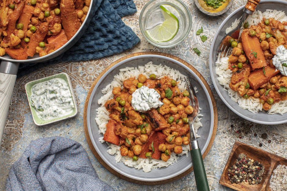 Spiced Chickpea & Vegetable Curry