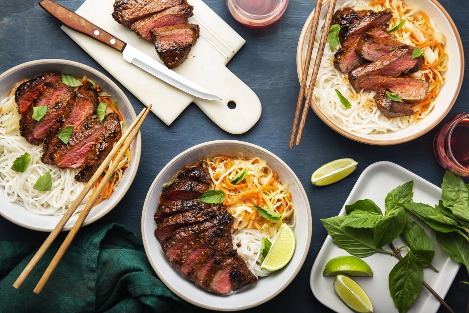 Pho-Spiced Seared Steak Bowls