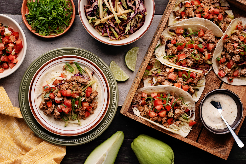Browned Pork Tacos
