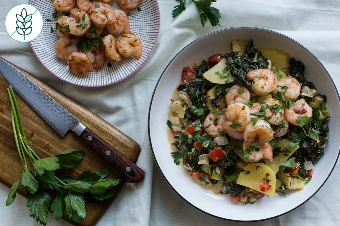 Seared Shrimp and Vegetable Stew