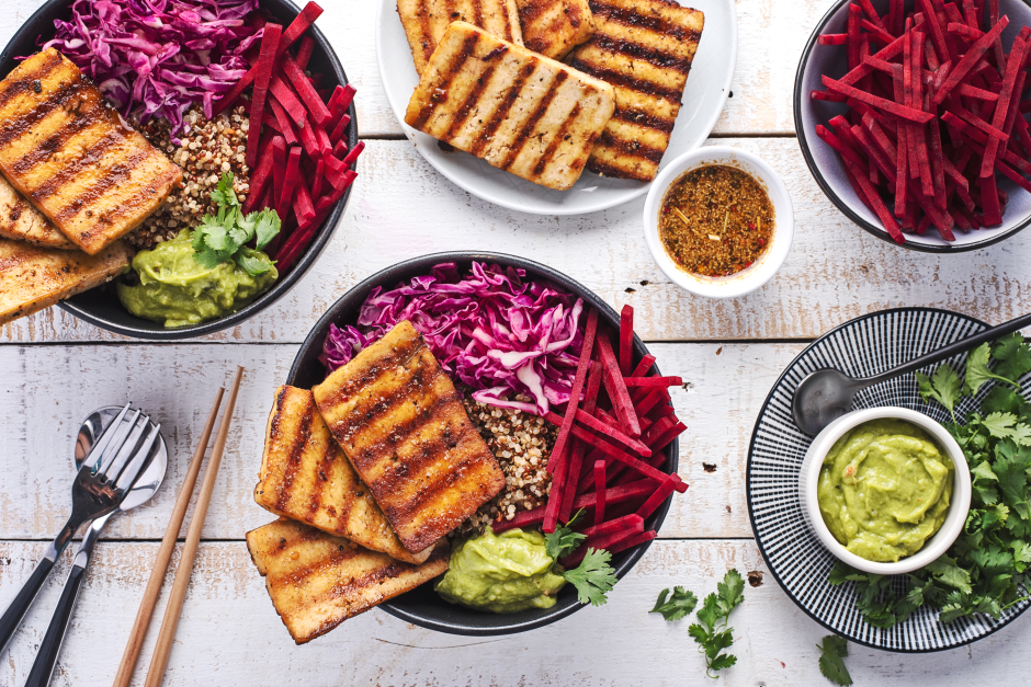 Superfood Tofu Dragon Bowl over Quinoa