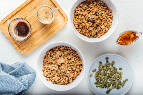 Maple + Quinoa Granola