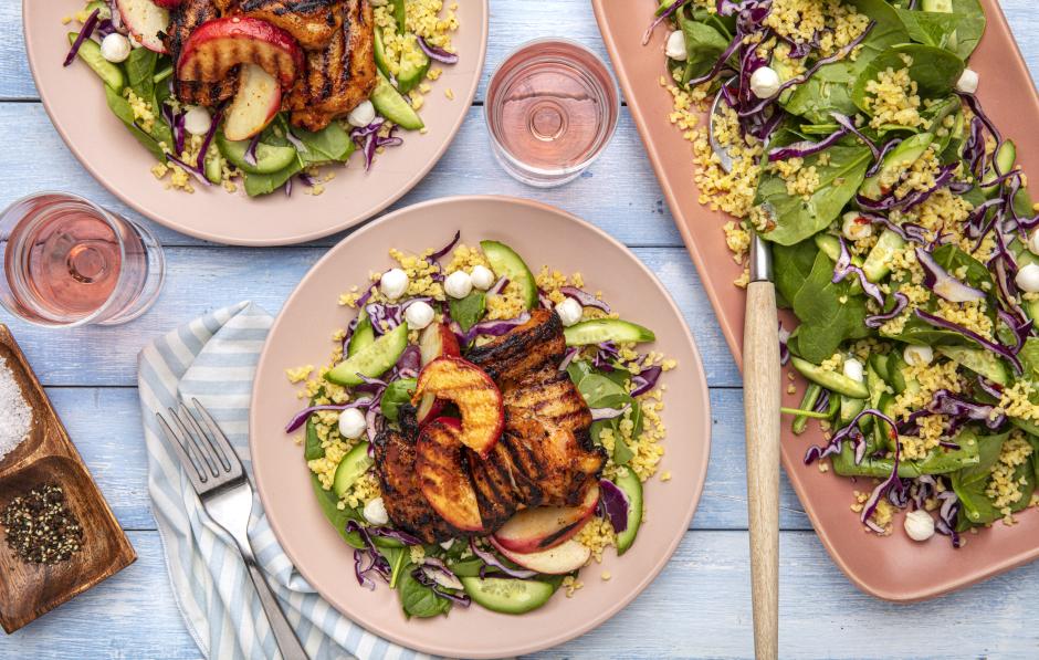 Honey-Glazed BBQ Chicken & Peach Salad