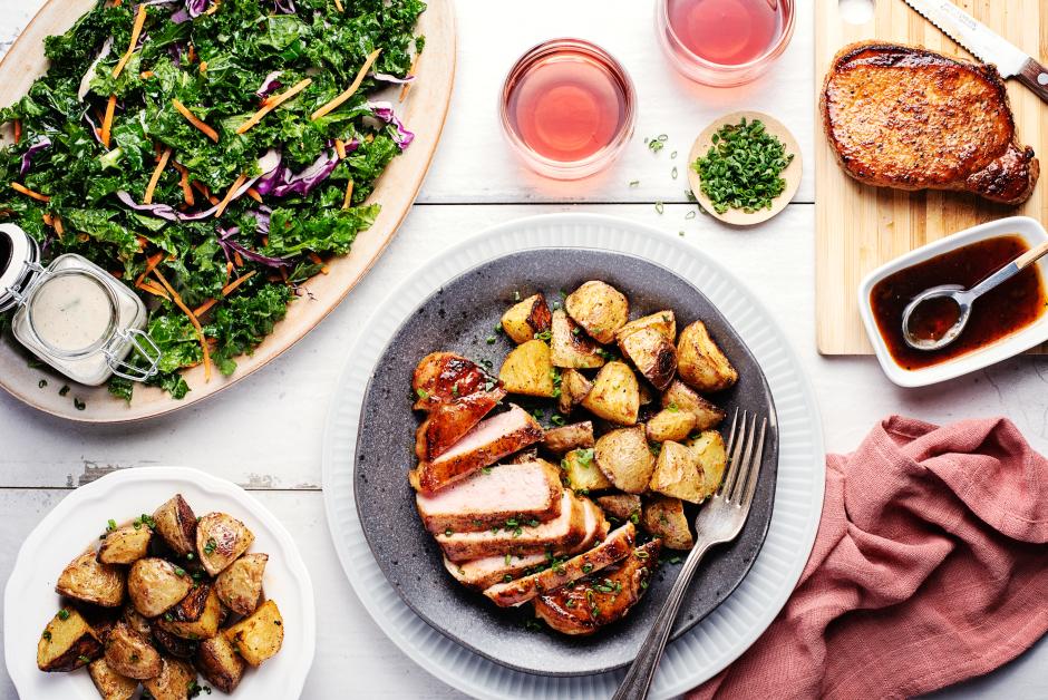 Maple-Butter Pork Chops