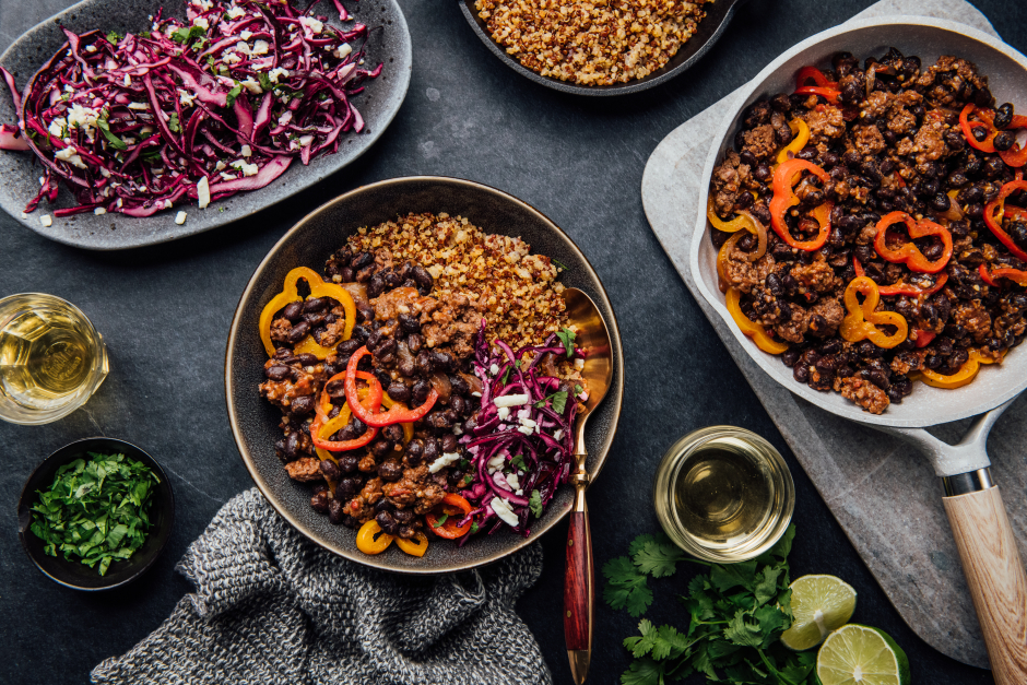 Beef & Black Bean Chili Bowls