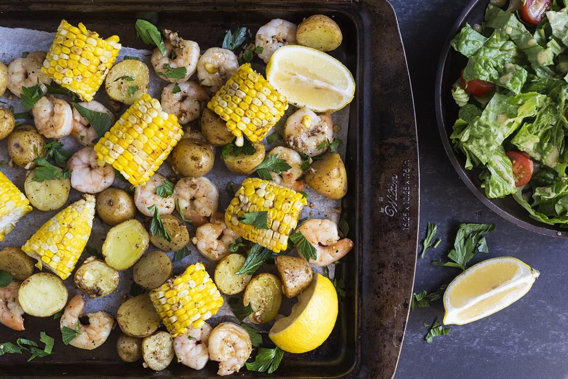 Crevettes & maïs estival