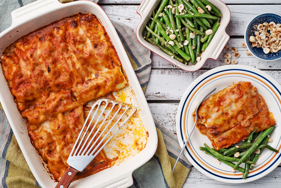 Ground Beef & Ricotta Cannelloni