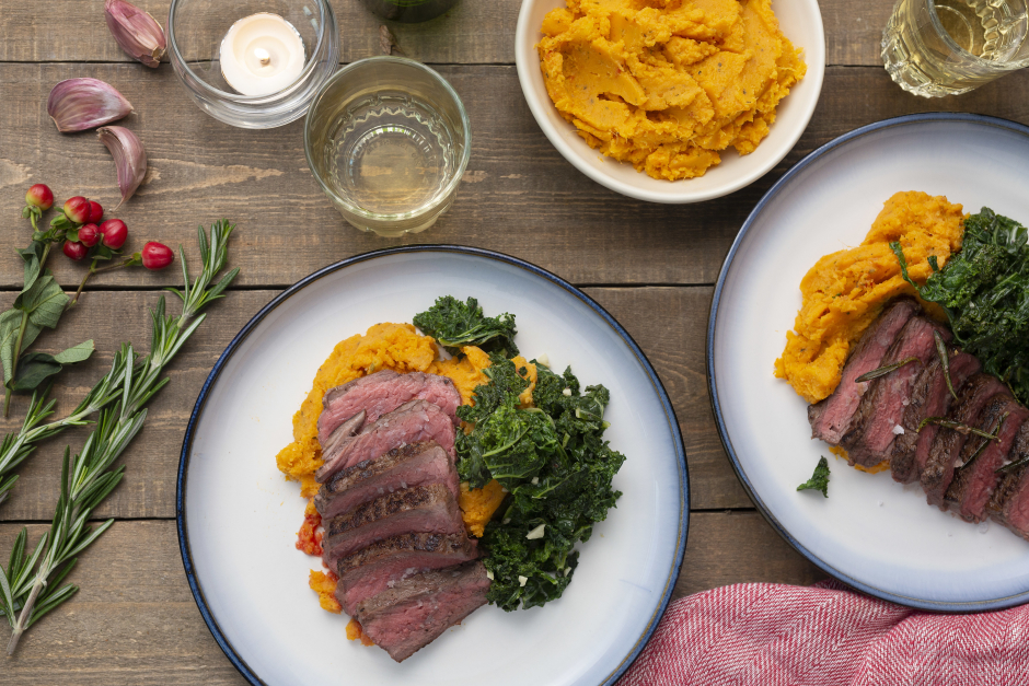 Rosemary & Garlic Brown Butter Steaks