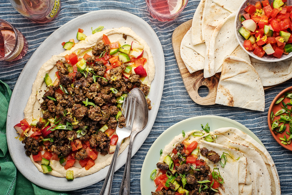 Spiced Middle Eastern-Style Beef Platter