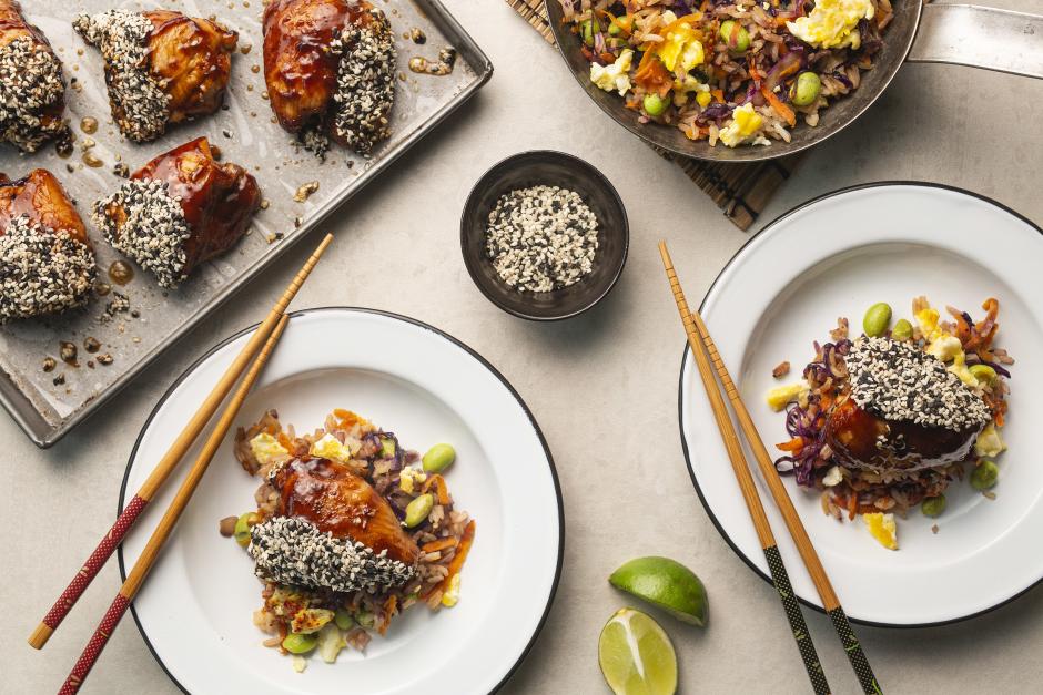 Sesame-Crusted Hoisin-Glazed Chicken