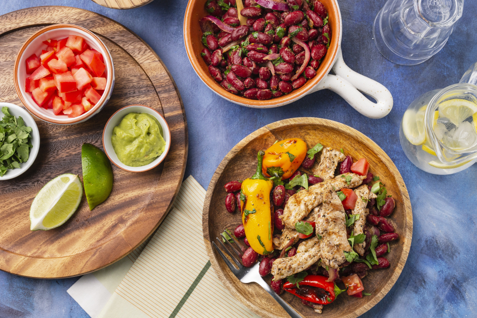 Grilled Pork Carnitas Bowls