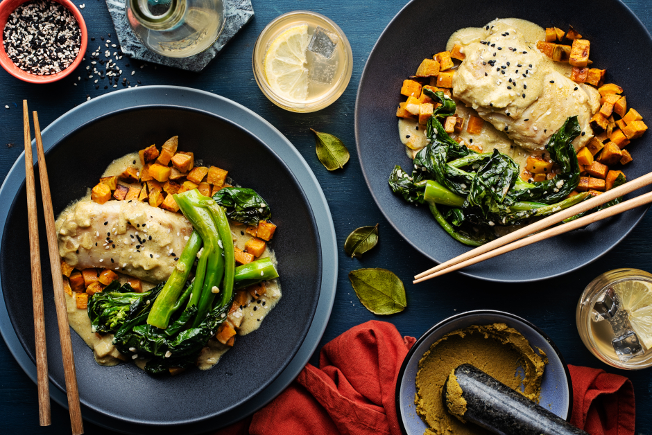 Thai-Style Cod in Green Curry