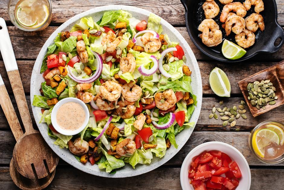 Sante Fe Shrimp Caesar Salad