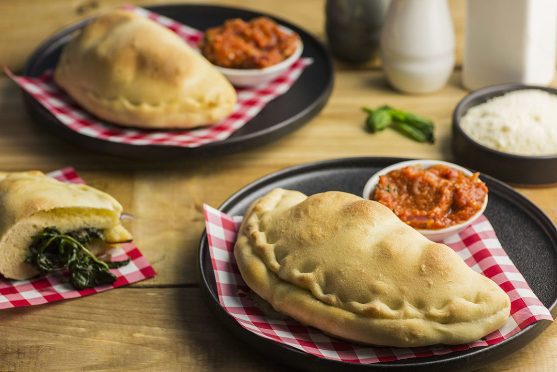 Cheese & Spinach Stuffed Calzones