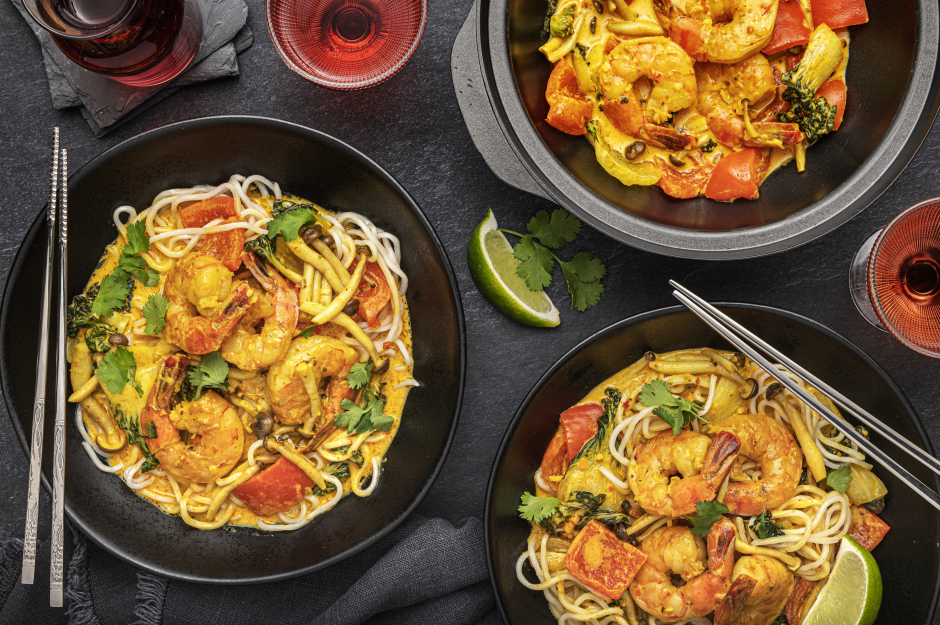 Yellow Coconut Tiger Shrimp Curry