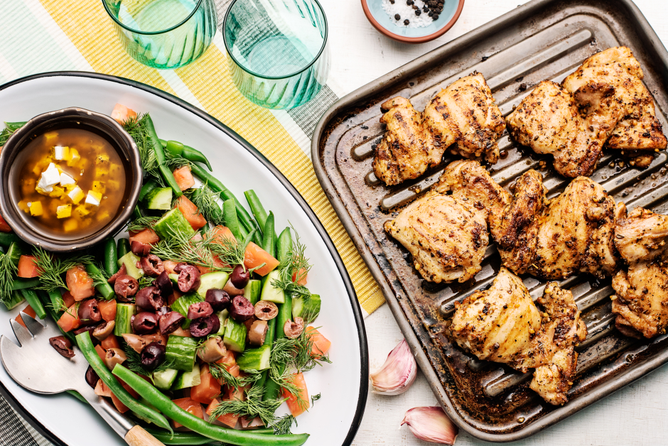 Souvlaki-Spiced Chicken Thighs