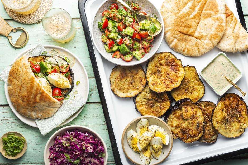 Israeli-Style Sabich Sandwich Platter