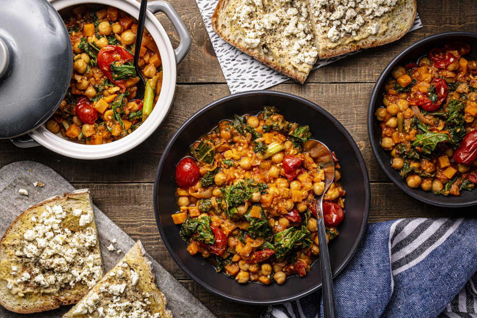 Smoky Sweet Potato, Roasted Pepper & Chickpea Stew