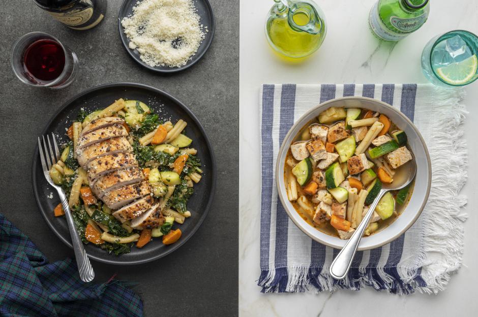 Dinner + Lunch Combo: Chicken Breasts & Pesto Veggies