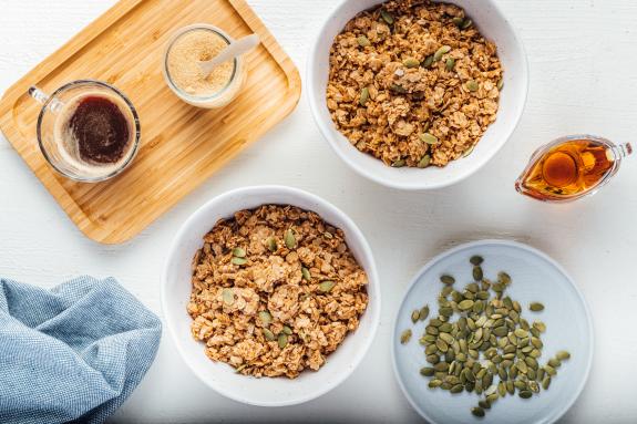 Maple + Quinoa Granola