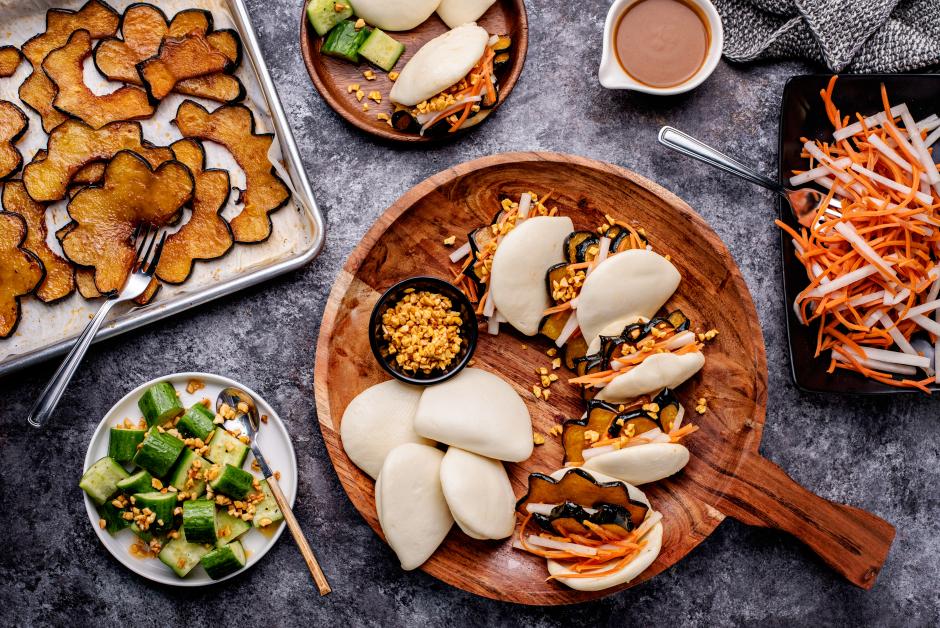 Glazed Squash Bao Buns