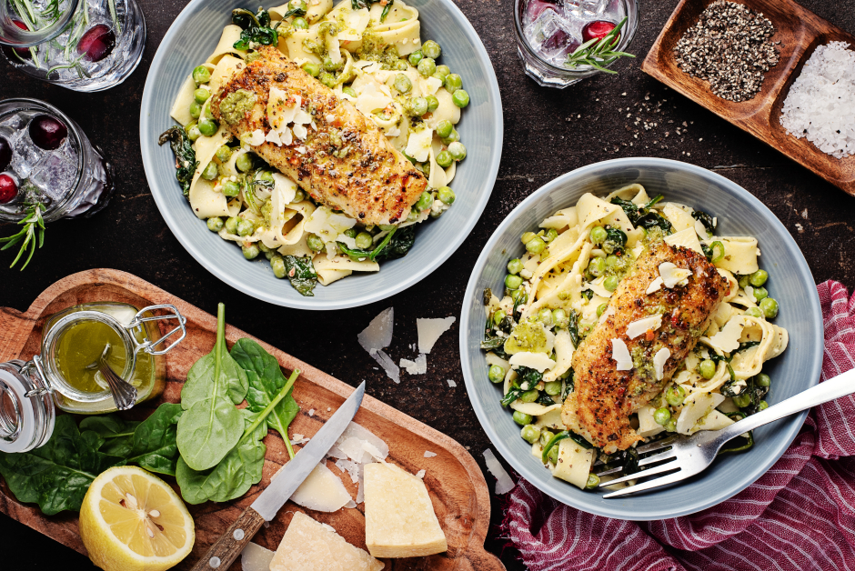Golden Haddock over Fresh Tagliatelle