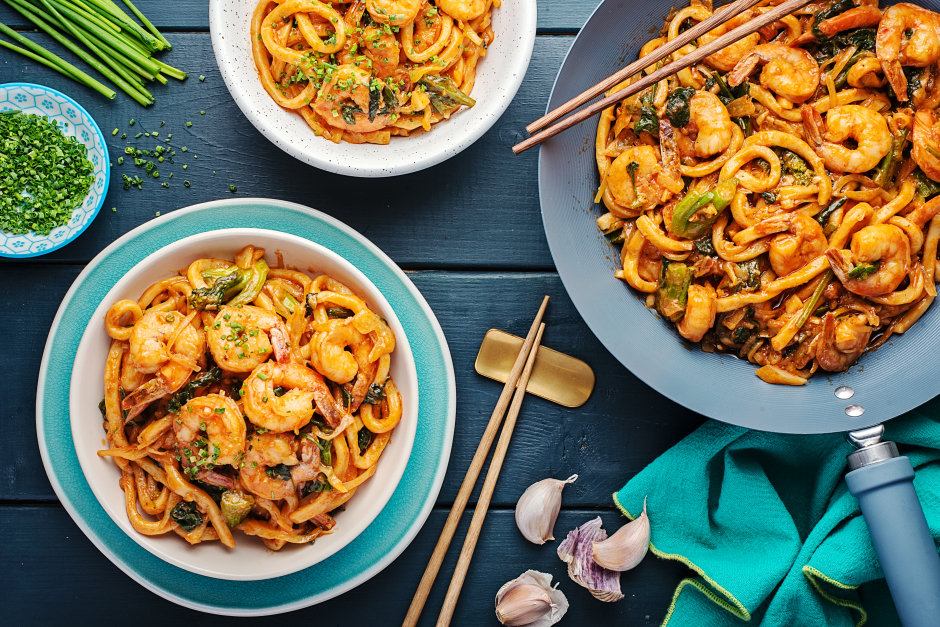Shrimp & Kimchi Udon Noodles